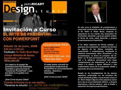 Invitación Curso El Arte de Presentar con PowerPoint